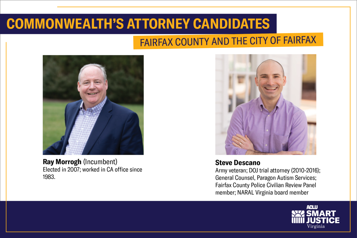 CA candidates for Fairfax County Ray Murrogh and Steve Descano