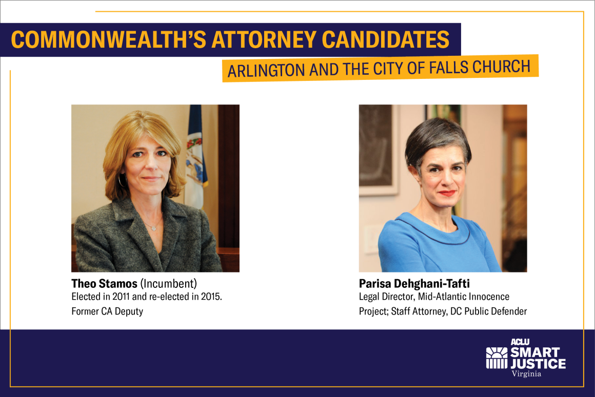 CA candidates for Arlington County and the City of Falls Church Theo Stamos and Parissa Tafti