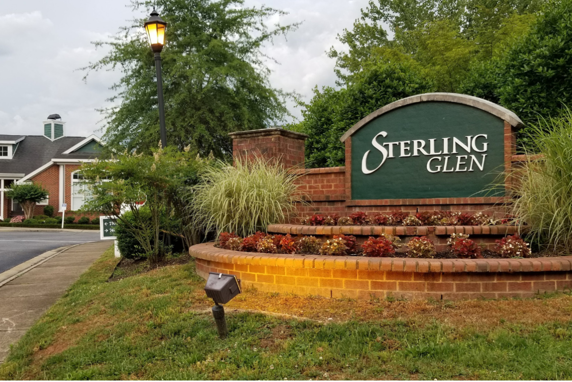 a picture in front of sterling glen apartment complex in chesterfield county