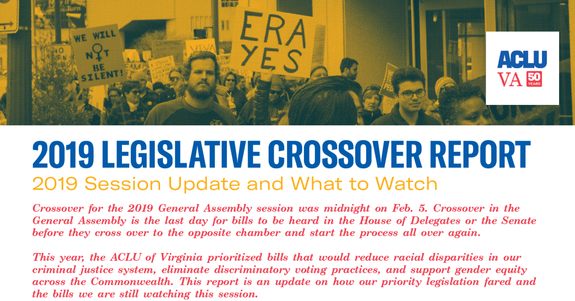 2019 General Assembly Session - Crossover Report