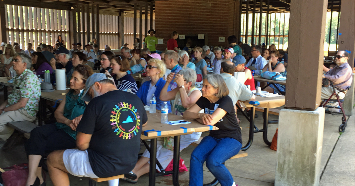 ACLU members gathered at the 2017 Crabfest hosted by the Northern Virginia chapter.